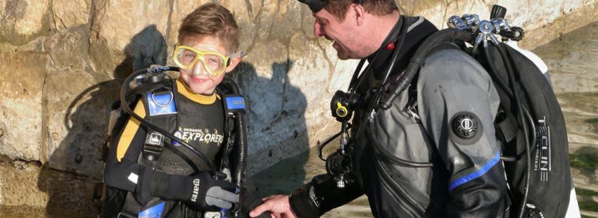 Potápění je sport pro celou rodinu, ostrov Pag Chorvatsko (foto: Filip Kříž)